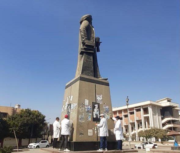 وزير الآثار يشهد حملة تنظيف وصيانة التماثيل الموجودة بالميادين العامة