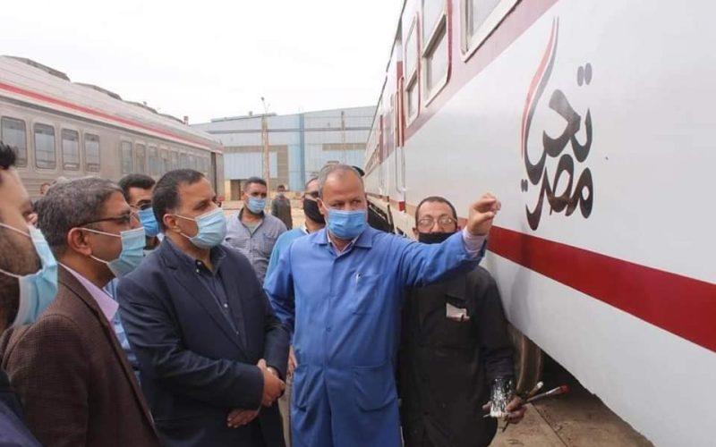 رئيس السكة الحديد: لدينا خطة لتطوير 1223 عربة بورش كوم أبو راضي بنهاية 2021