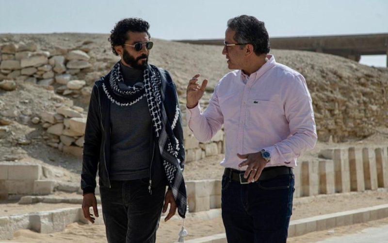 وزير السياحة والآثار يلتقي بخالد النبوي لتصويرفيلم ترويجي عن الحضارة المصرية (صور)