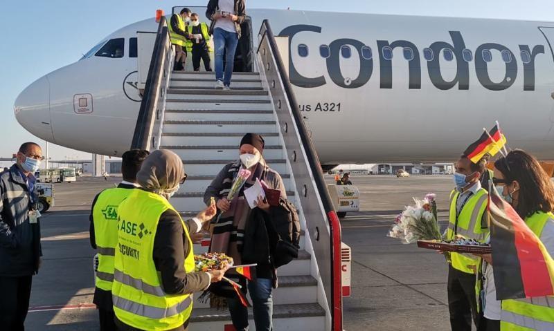 مطار الغردقة يستقبل أولى رحلات شركة Condor للطيران القادمة من فرانكفورت (صور)